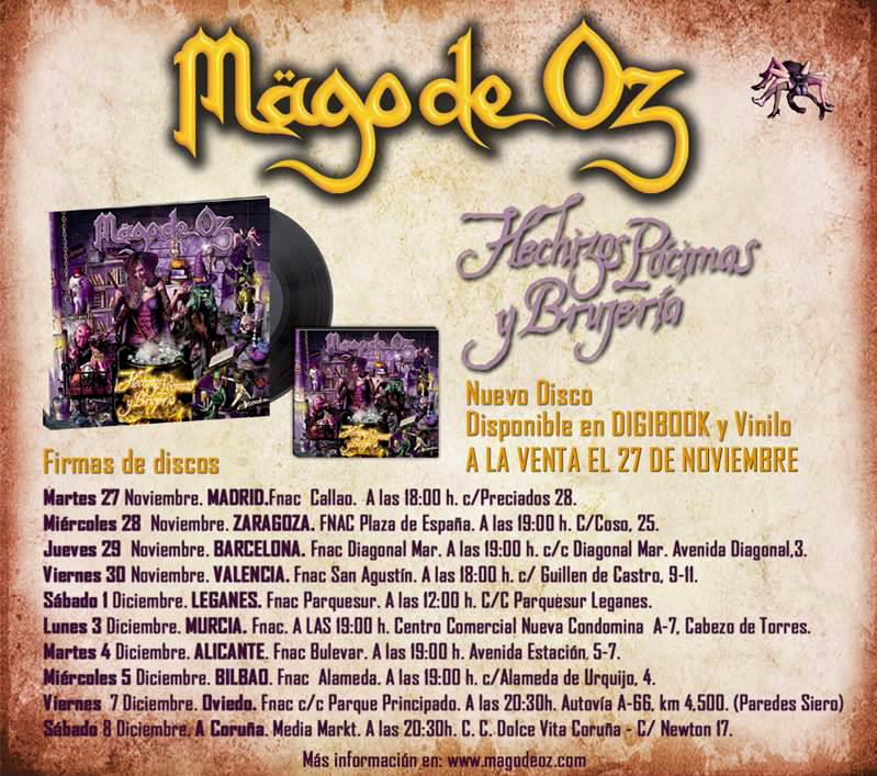 Metalcry.com :: Tu Web de Rock y Metal � M�GO DE OZ CONFIRMAN GIRA ...