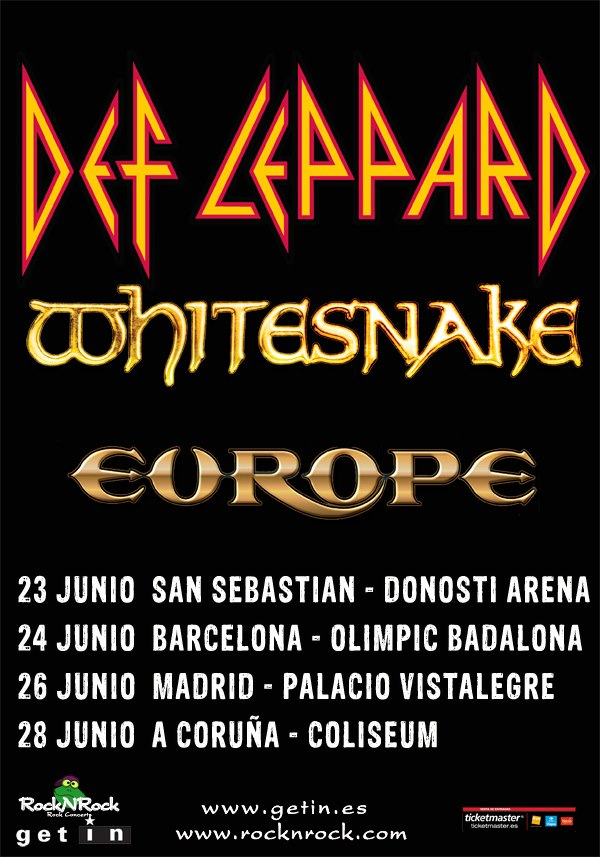DEF LEPPARD WHITESNAKE EUROPE