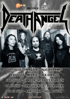 DEATH ANGEL Tour Spain