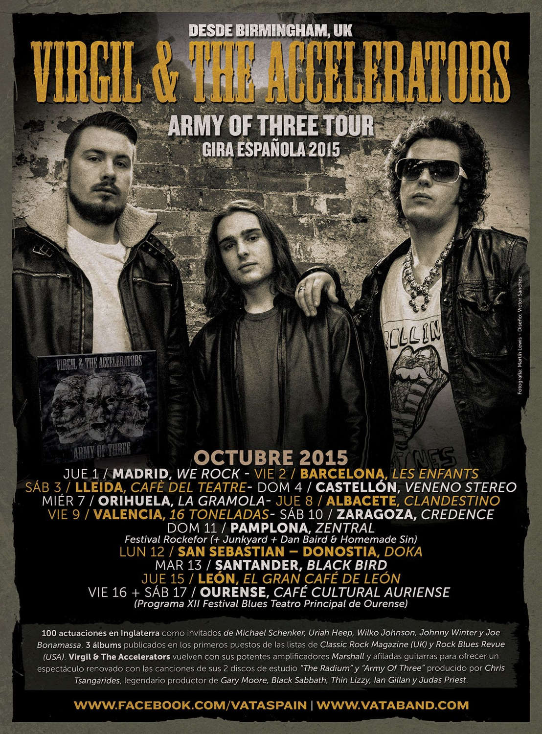 VIRGIL AND THE ACCELERATORS tour 2015