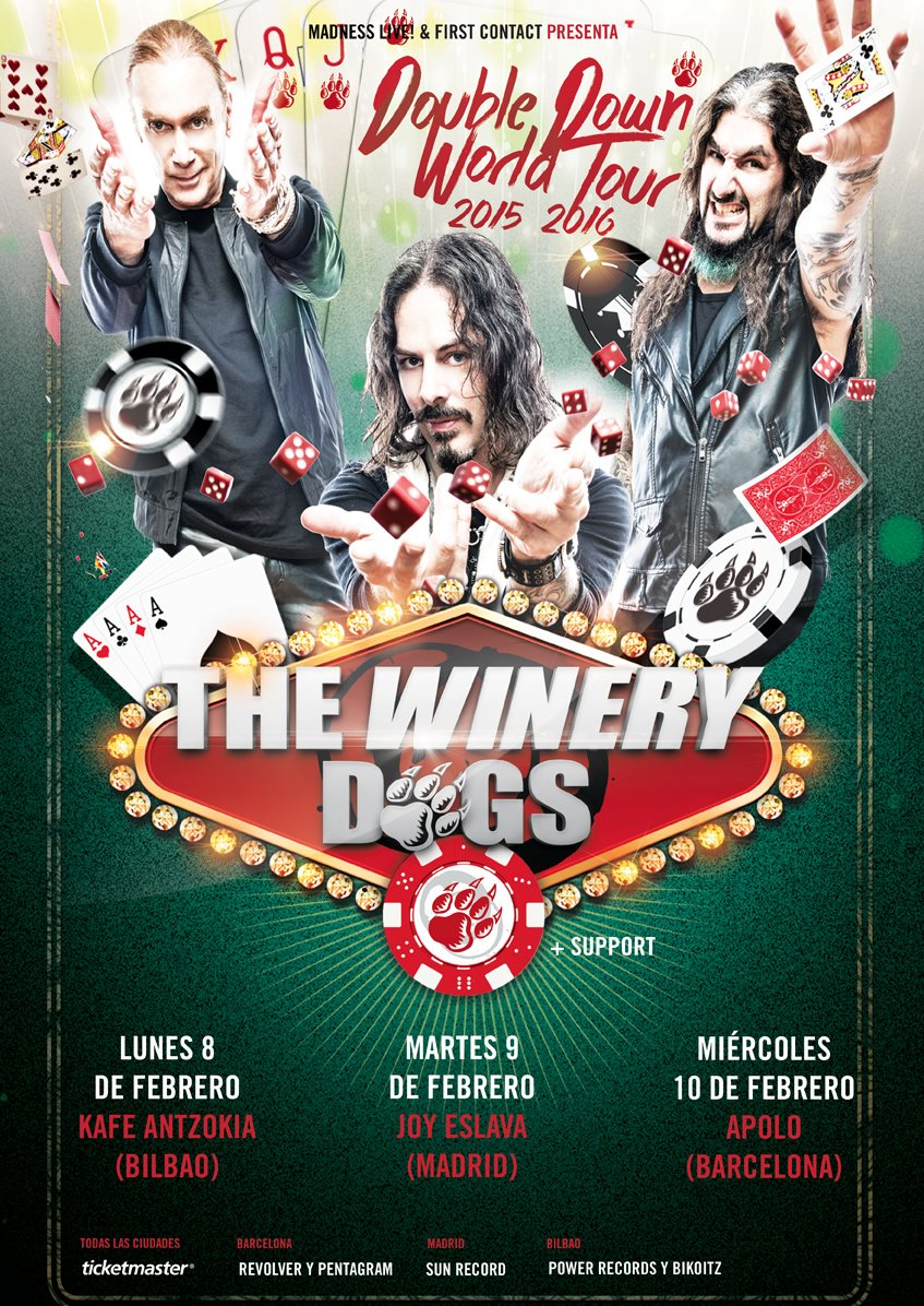 THE WINERY DOGS tour