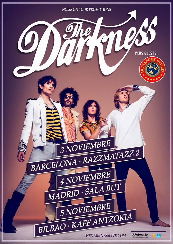 The Darkness gira Noviembre