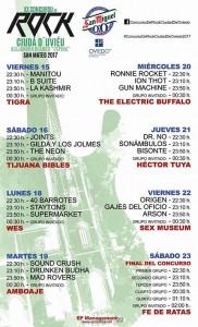 XX Concursu de Rock Ciudá d'Uviedu calendario