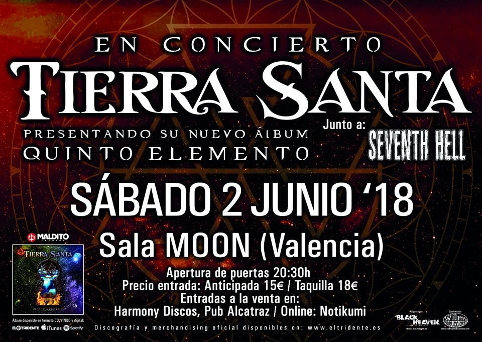 TIERRA SANTA Y SEVENTH HELL - Valencia