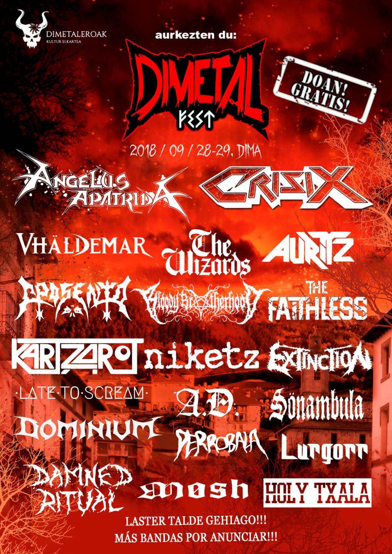 Dimetal Fest 2018 - Mas bandas
