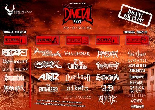Dimetalfest 2018 - Distribución bandas