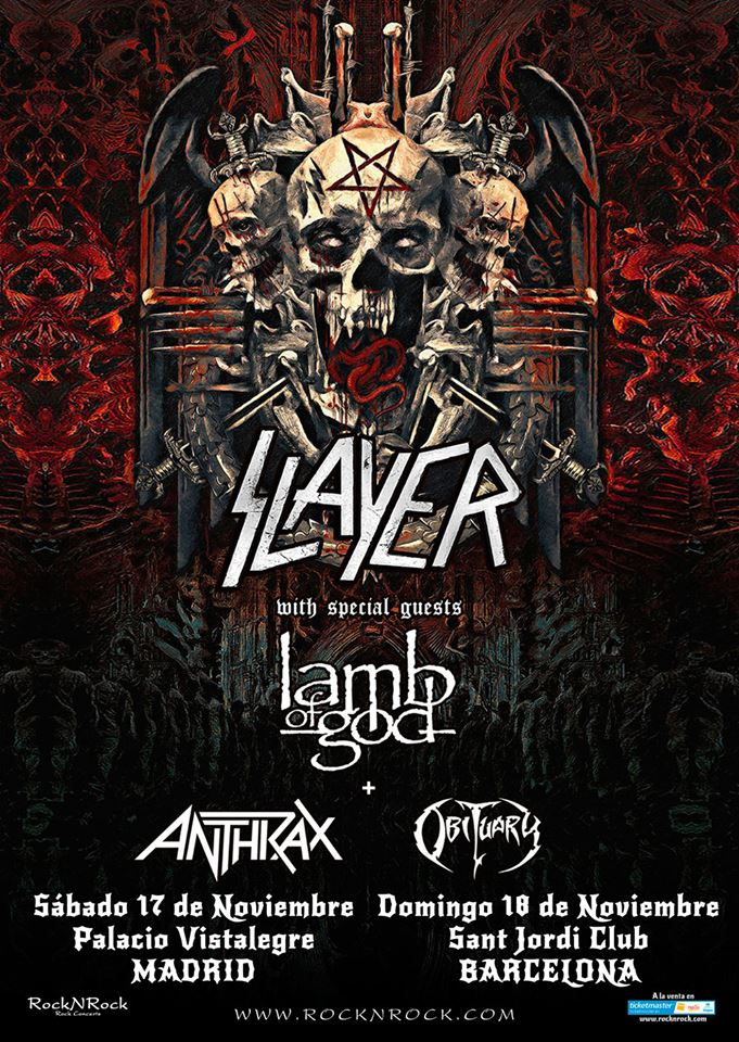 Slayer Gira despedida 2018